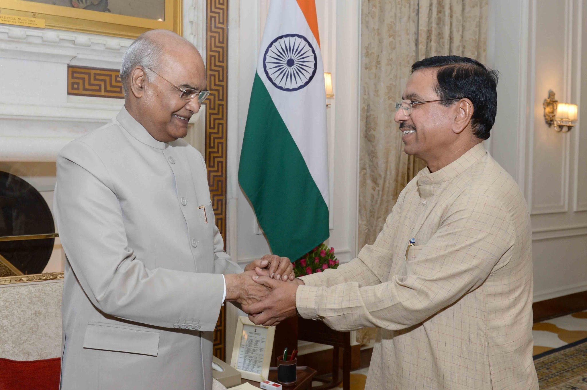 Shri Pralhad Joshi Hon'ble Minister Parliamentary Affairs made a courtesy visit to Hon'ble President of India