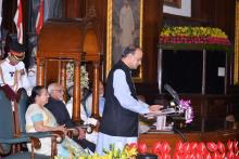 FINANCE MINISTER DELIVERING INTRODUCTORY SPEECH ON GST AT THE GST ROLLOUT FUNCTION