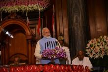 PRIME MINISTER OF INDIA ADDRESSING AT THE GST LAUNCH CEREMONY